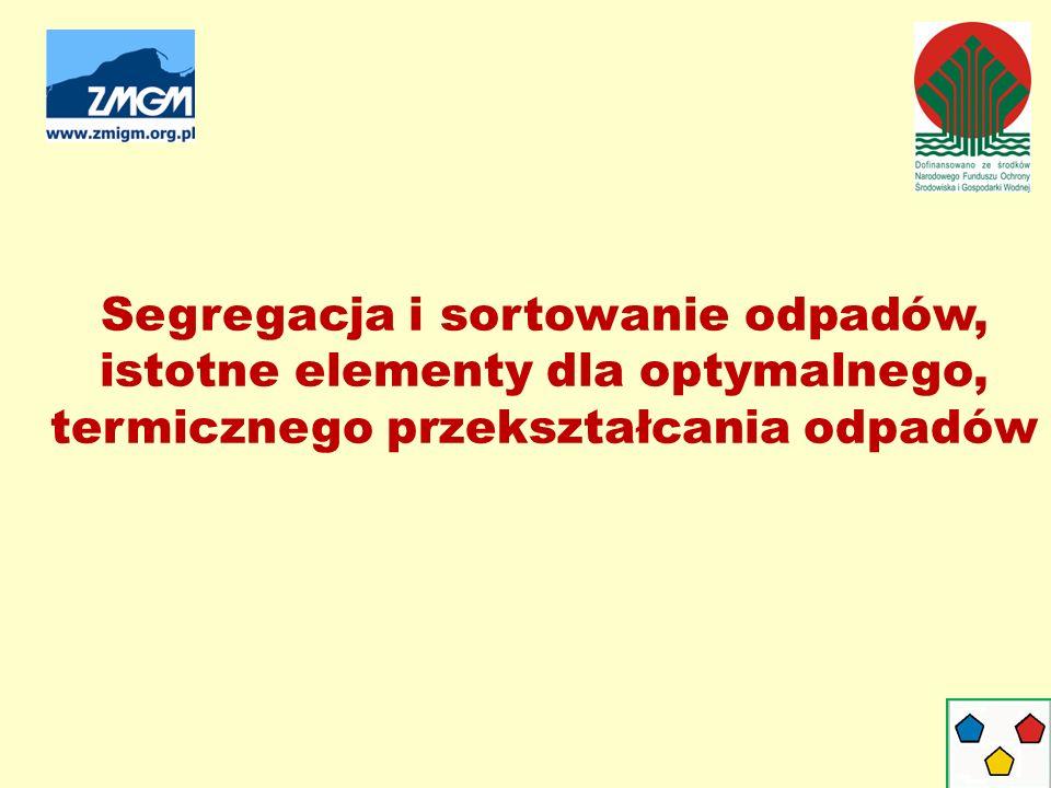 Segregacja i sortowanie odpadów, istotne elementy dla optymalnego, termicznego przekształcania odpadów