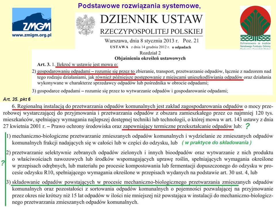 Podstawowe rozwiązania systemowe, Art. 35. pkt 6