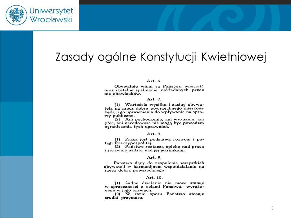 Zasady ogólne Konstytucji Kwietniowej 5