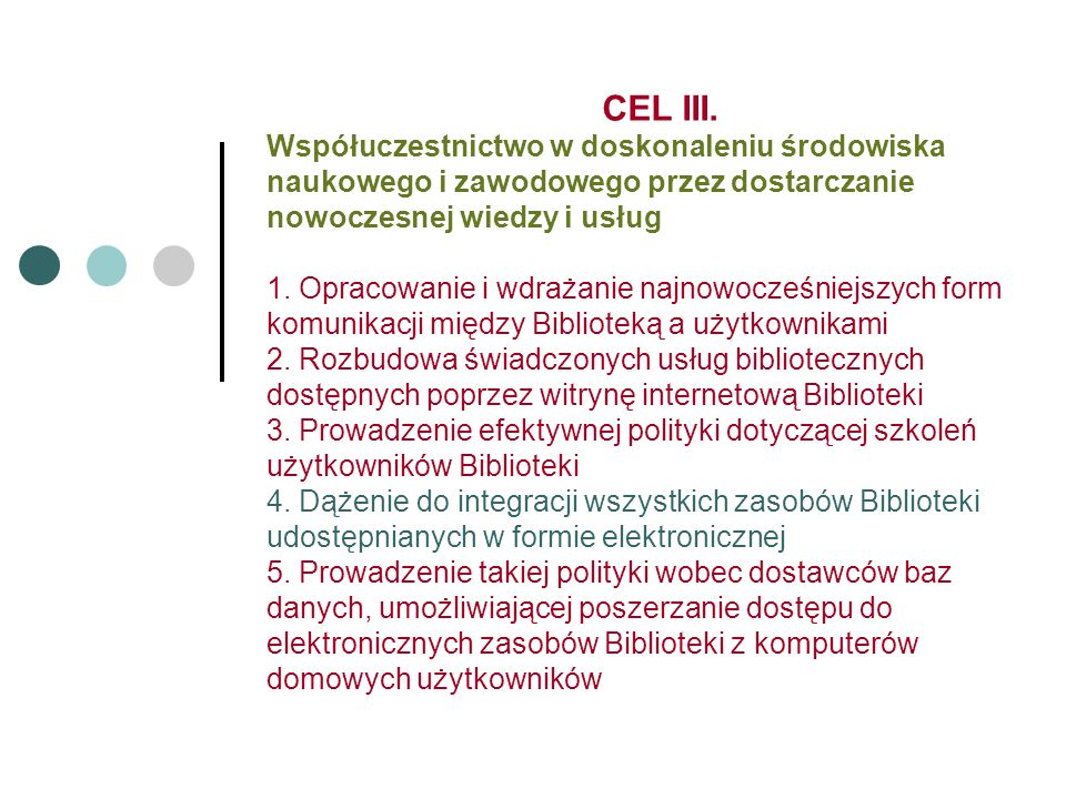 CEL III.