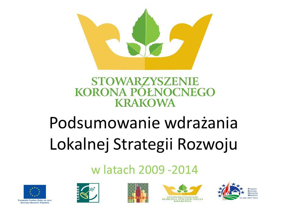 Podsumowanie wdrażania Lokalnej Strategii Rozwoju w latach 2009 -2014