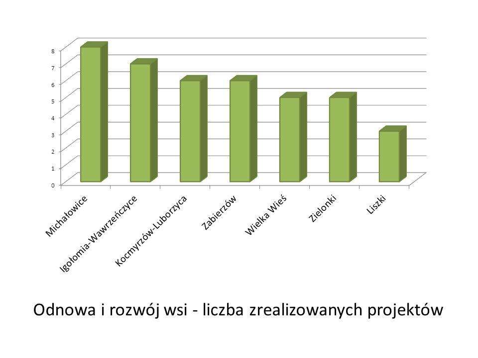 Tworzenie i rozwój mikroprzedsiębiorstw 4 nabory41 złożonych wniosków15 wniosków wybranych do realizacji6 wniosków zrealizowanych lub w trakcie