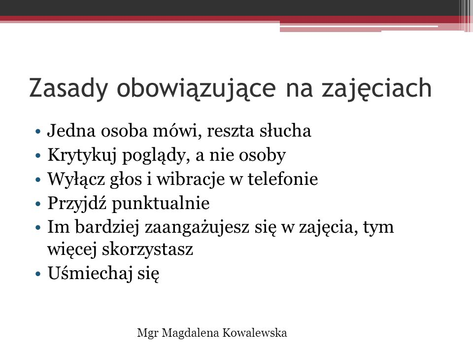 Pytania? Postulaty? Mgr Magdalena Kowalewska