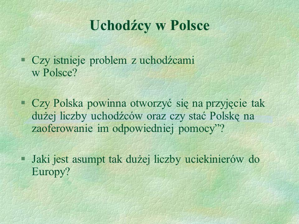 Uchodźcy w Polsce §Czy istnieje problem z uchodźcami w Polsce? §Czy Polska powinna otworzyć się na przyjęcie tak dużej liczby uchodźców oraz czy stać