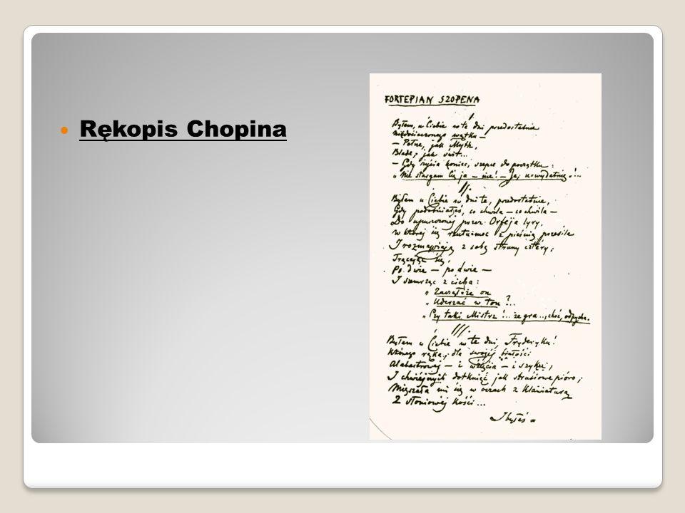 Rękopis Chopina
