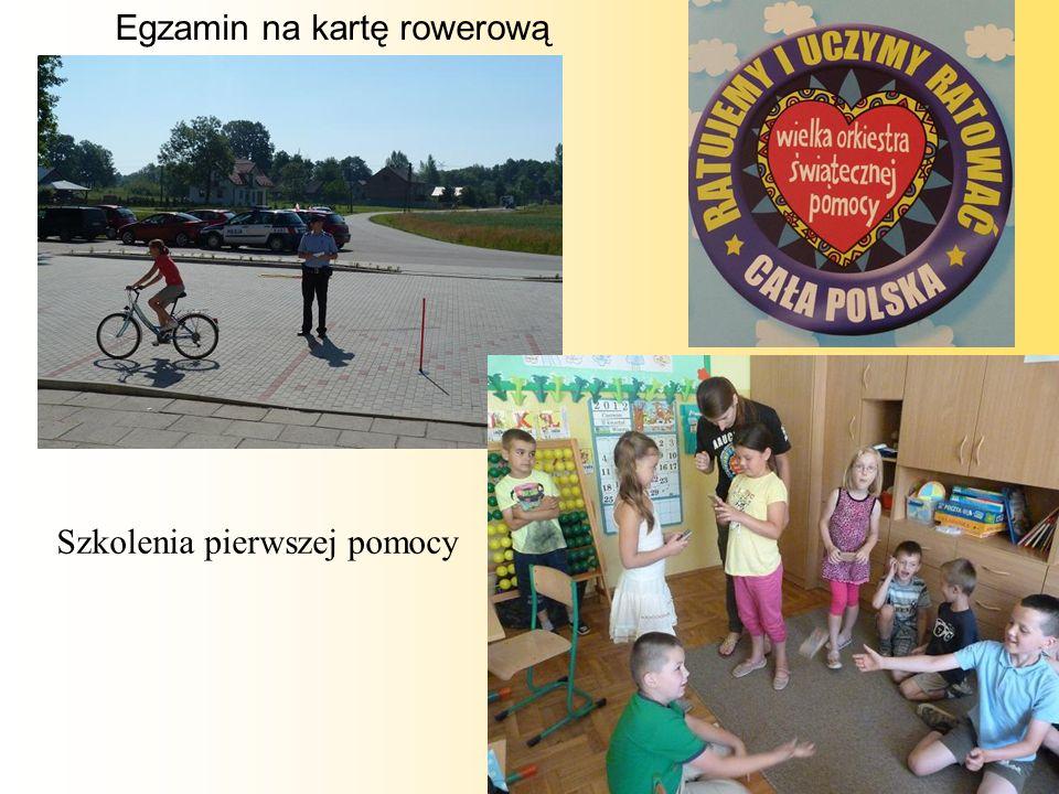 Egzamin na kartę rowerową Szkolenia pierwszej pomocy