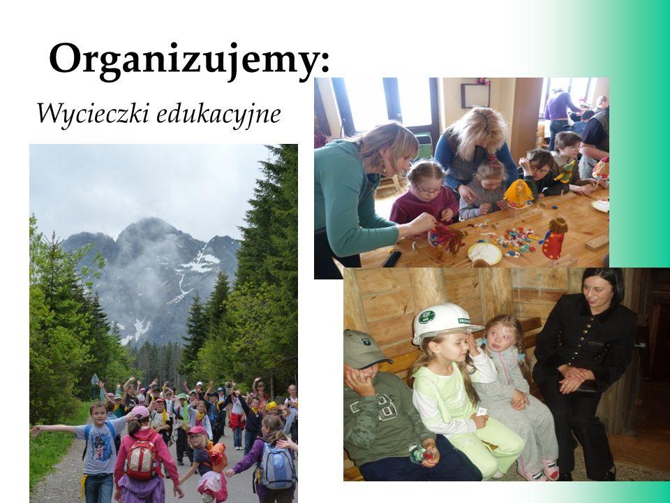 Znaczenie zabawy w procesie nauczania i wychowania. Organizujemy: Wycieczki edukacyjne