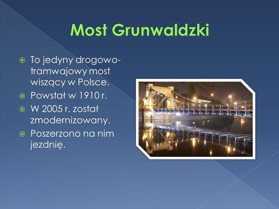  To jedyny drogowo- tramwajowy most wiszący w Polsce.