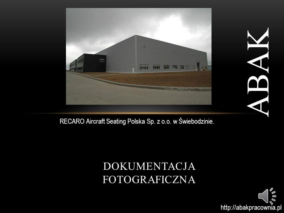 DOKUMENTACJA FOTOGRAFICZNA ABAK RECARO Aircraft Seating Polska Sp.