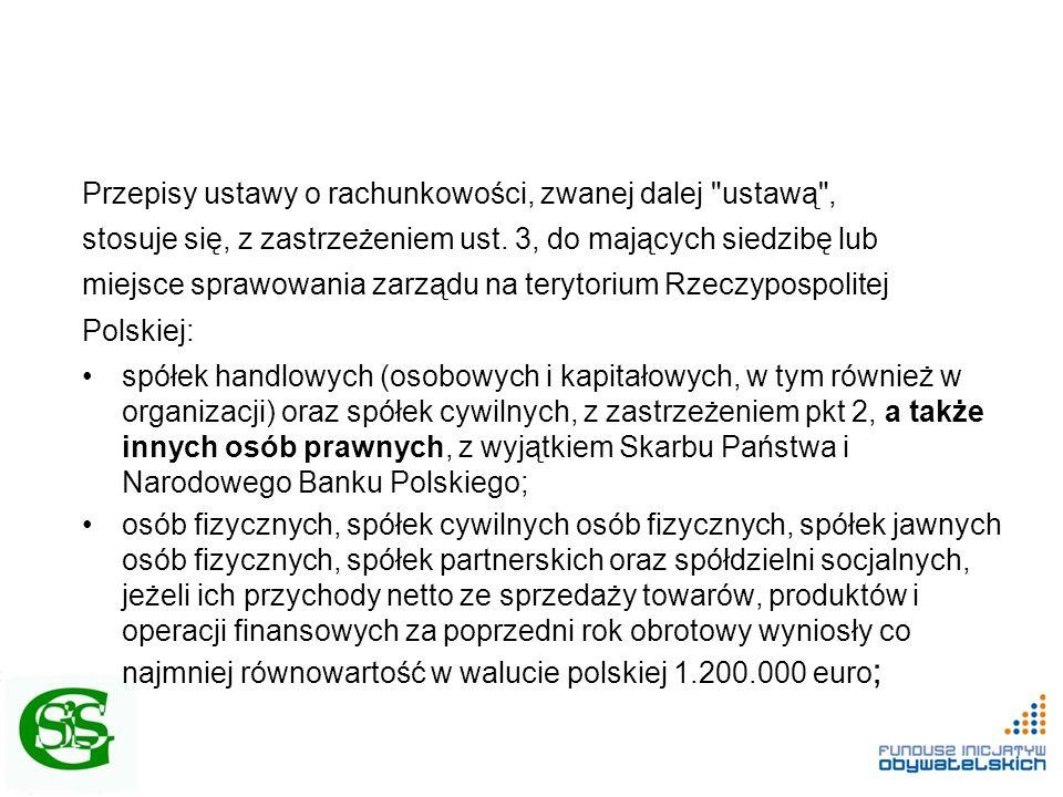 Ustawodawca ustanowił sferę zadań publicznych, która obejmuje 33 zadania w zakresie: 1) pomocy społecznej, w tym pomocy rodzinom i osobom w trudnej sytuacji życiowej oraz wyrównywania szans tych rodzin i osób; 2)działalności na rzecz integracji i reintegracji zawodowej i społecznej osób zagrożonych wykluczeniem społecznym; 3)działalności charytatywnej; 4)podtrzymywania i upowszechniania tradycji narodowej, pielęgnowania polskości oraz rozwoju świadomości narodowej, obywatelskiej i kulturowej; 5)działalności na rzecz mniejszości narodowych i etnicznych oraz języka regionalnego; 6)ochrony i promocji zdrowia; 7)działalności na rzecz osób niepełnosprawnych; 8)