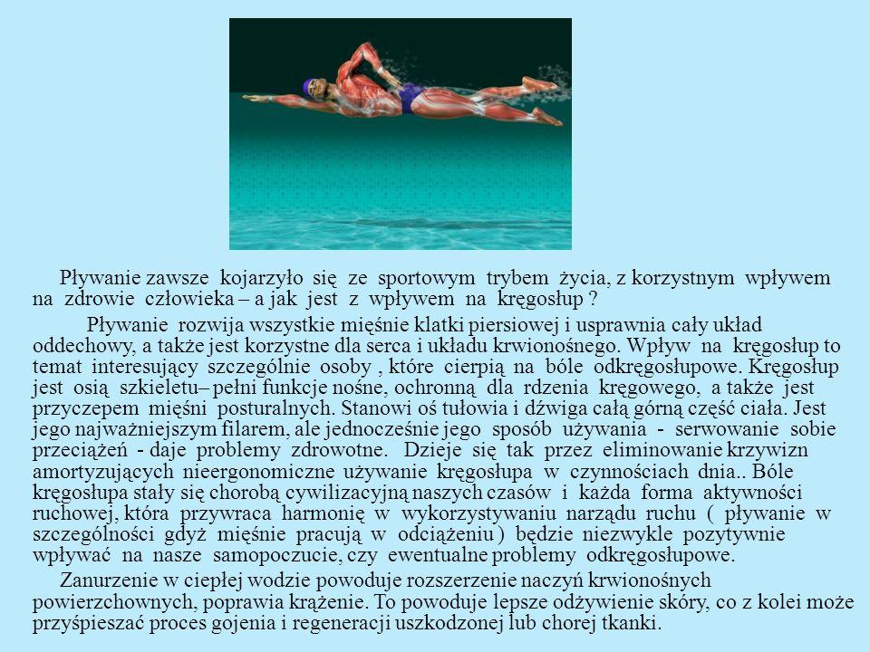 Poszczególne style pływackie pozwalają nam skutecznie wspomagać leczenie wad kręgosłupa.