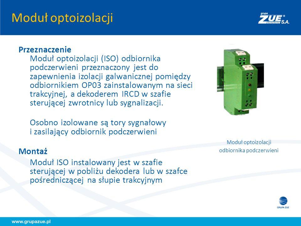 Moduł optoizolacji odbiornika podczerwieni Przeznaczenie Moduł optoizolacji (ISO) odbiornika podczerwieni przeznaczony jest do zapewnienia izolacji ga