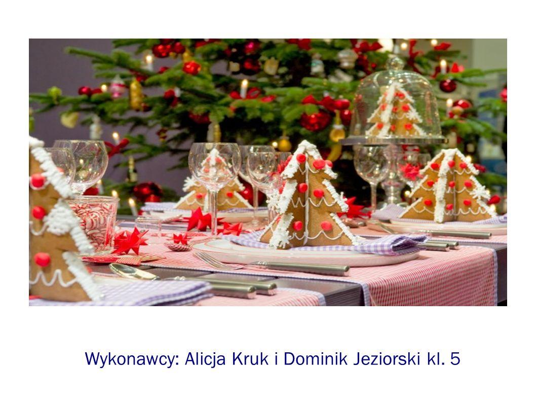 Wykonawcy: Alicja Kruk i Dominik Jeziorski kl. 5