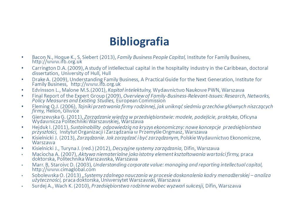 Bibliografia Bacon N., Hoque K., S.
