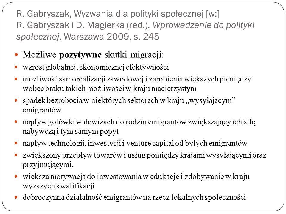 R. Gabryszak, Wyzwania dla polityki społecznej [w:] R.