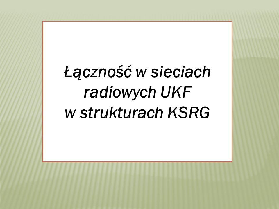 Łączność w sieciach radiowych UKF w strukturach KSRG