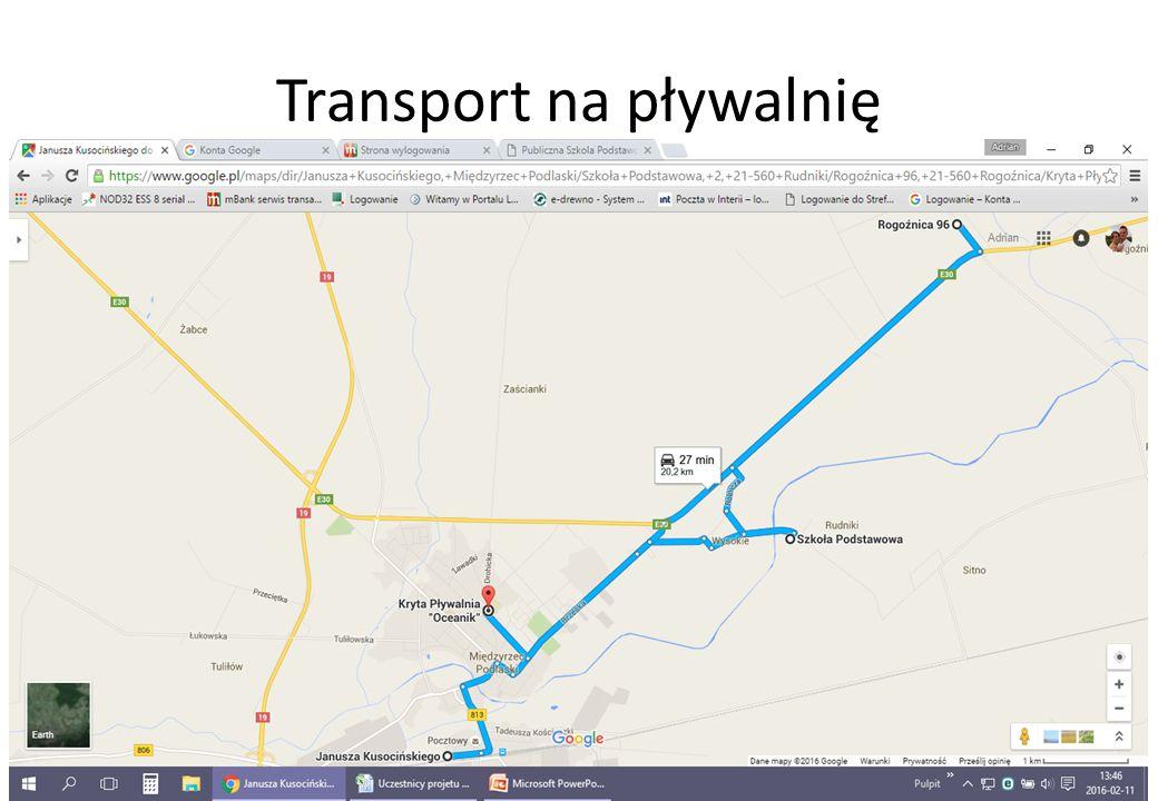 Transport z pływalni