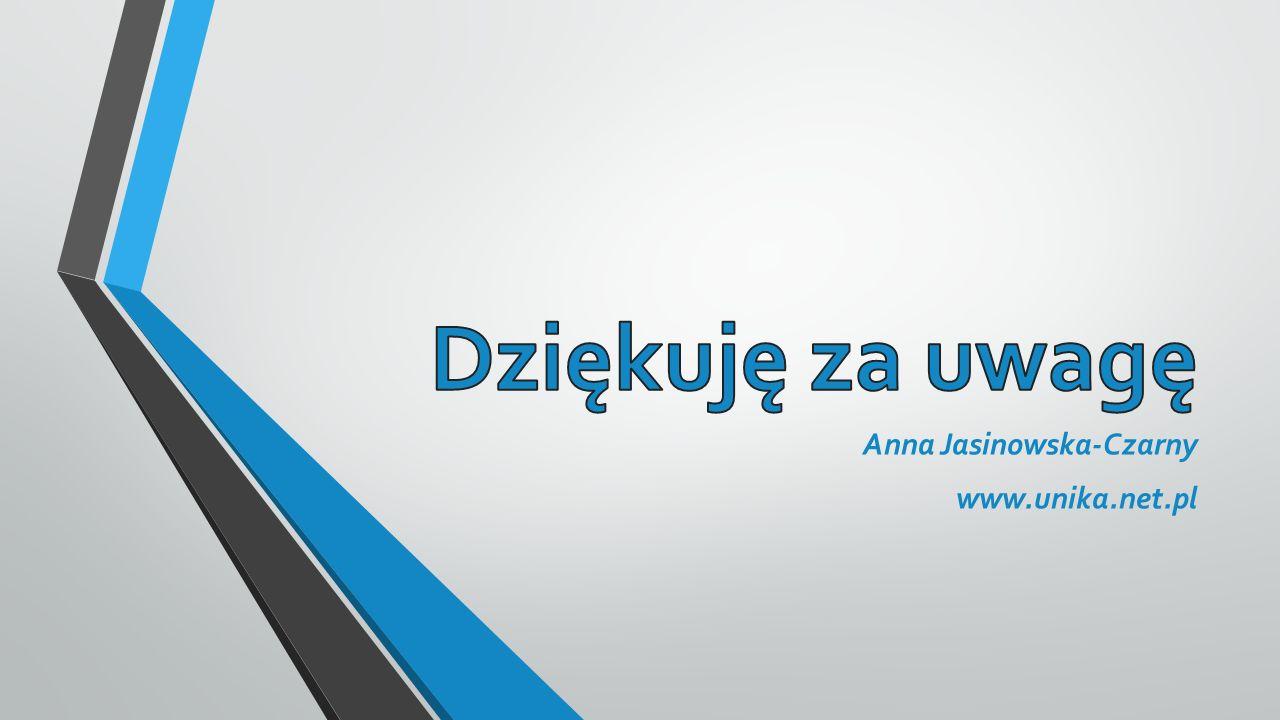 Anna Jasinowska-Czarny www.unika.net.pl