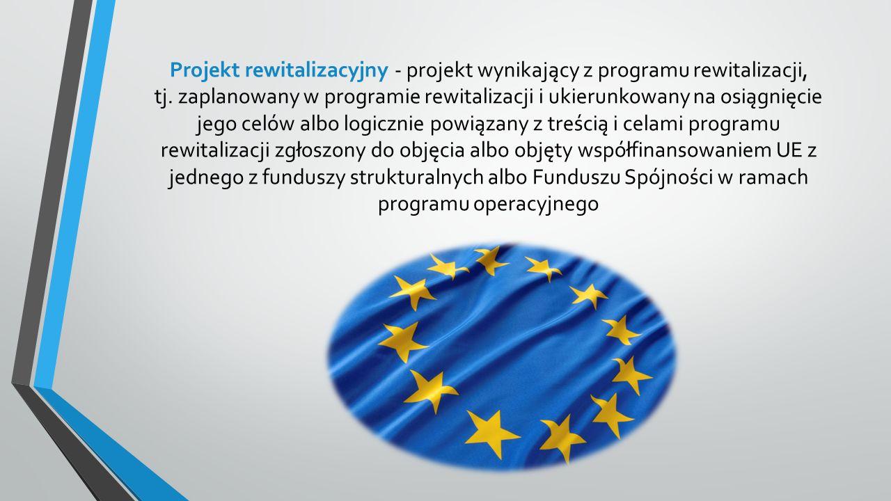Projekt rewitalizacyjny - projekt wynikający z programu rewitalizacji, tj.