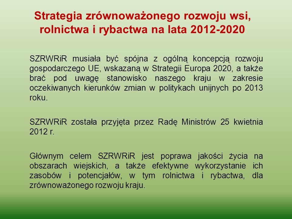 SZRWRiR musiała być spójna z ogólną koncepcją rozwoju gospodarczego UE, wskazaną w Strategii Europa 2020, a także brać pod uwagę stanowisko naszego kr