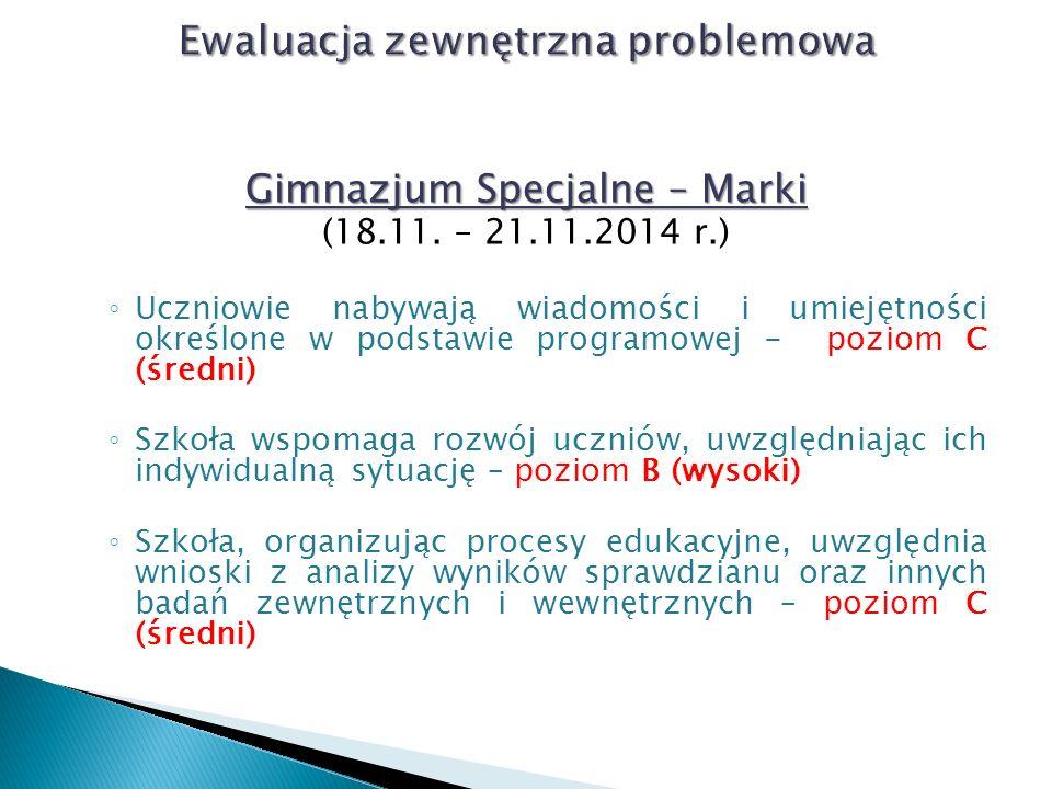 Gimnazjum Specjalne – Marki (18.11.