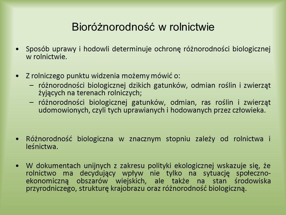 zwiększająca się chemizacja produkcji rolnej Czynniki zagrażające różnorodności biologicznej i mające potwierdzenie w danych Zużycie nawozów mineralnych lub chemicznych oraz wapniowych w przeliczeniu na czysty składnik źródło: GUS, Warszawa 2014 tys.