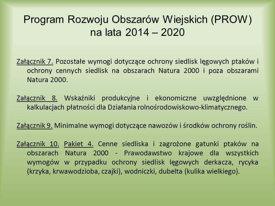 Załącznik 7. Pozostałe wymogi dotyczące ochrony siedlisk lęgowych ptaków i ochrony cennych siedlisk na obszarach Natura 2000 i poza obszarami Natura 2