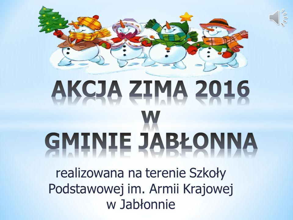 realizowana na terenie Szkoły Podstawowej im. Armii Krajowej w Jabłonnie