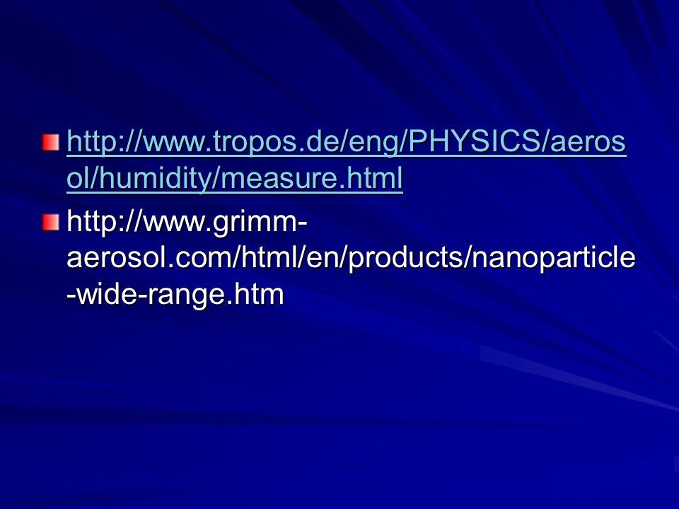 http://www.tropos.de/eng/PHYSICS/aeros ol/humidity/measure.html http://www.tropos.de/eng/PHYSICS/aeros ol/humidity/measure.html http://www.grimm- aero