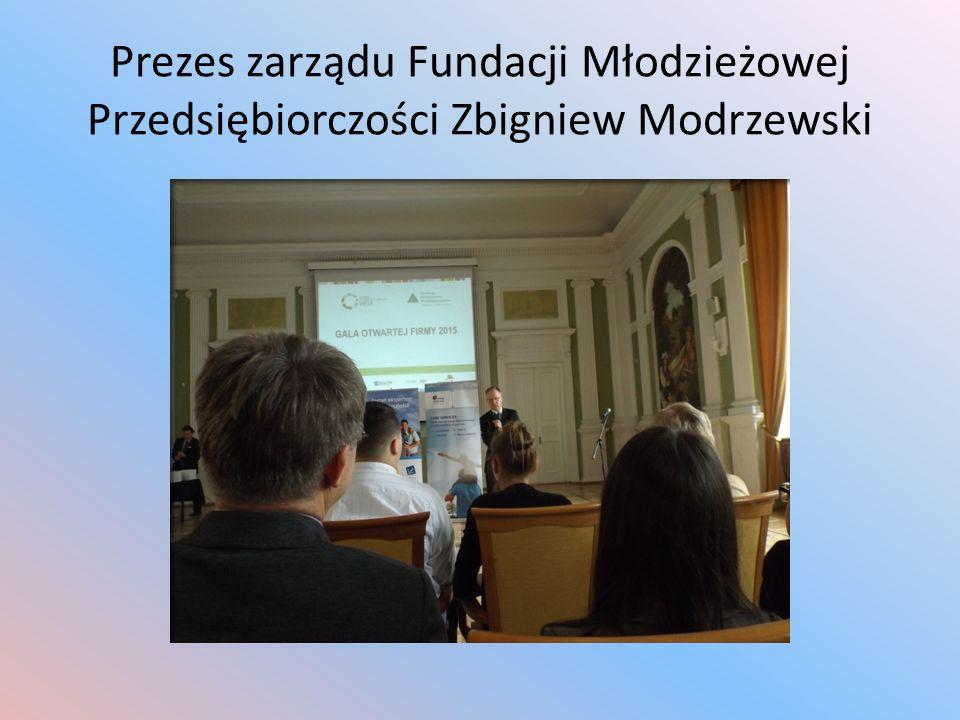 Prezes zarządu Fundacji Młodzieżowej Przedsiębiorczości Zbigniew Modrzewski