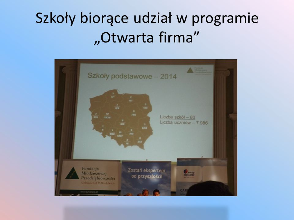 """Szkoły biorące udział w programie """"Otwarta firma"""""""