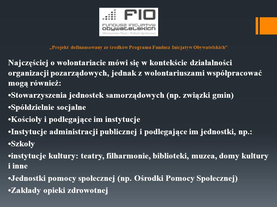 """""""Projekt dofinansowany ze środków Programu Fundusz Inicjatyw Obywatelskich Stowarzyszenie Hospicjum Domowe im."""