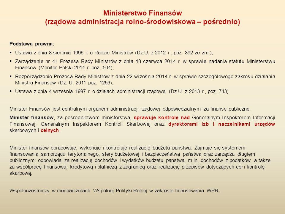 Podstawa prawna:  Ustawa z dnia 8 sierpnia 1996 r. o Radzie Ministrów (Dz.U. z 2012 r., poz. 392 ze zm.),  Zarządzenie nr 41 Prezesa Rady Ministrów