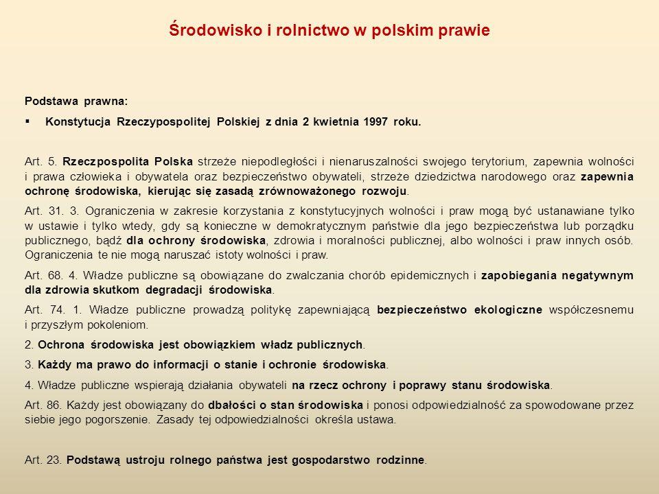 1.Rządowa administracja rolno-środowiskowa 1.1.Rada Ministrów 1.2.