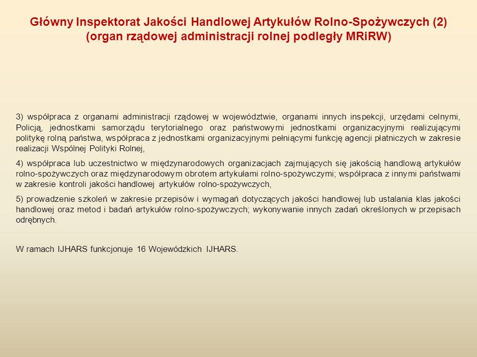 3) współpraca z organami administracji rządowej w województwie, organami innych inspekcji, urzędami celnymi, Policją, jednostkami samorządu terytorial