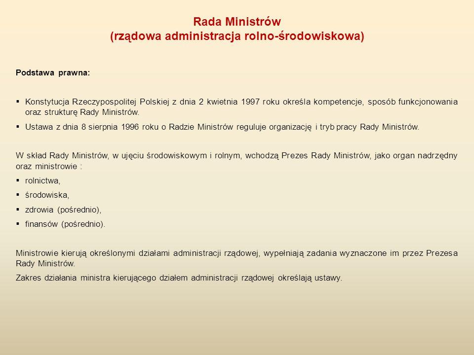 Podstawa prawna:  Konstytucja Rzeczypospolitej Polskiej z dnia 2 kwietnia 1997 roku określa kompetencje, sposób funkcjonowania oraz strukturę Rady Mi