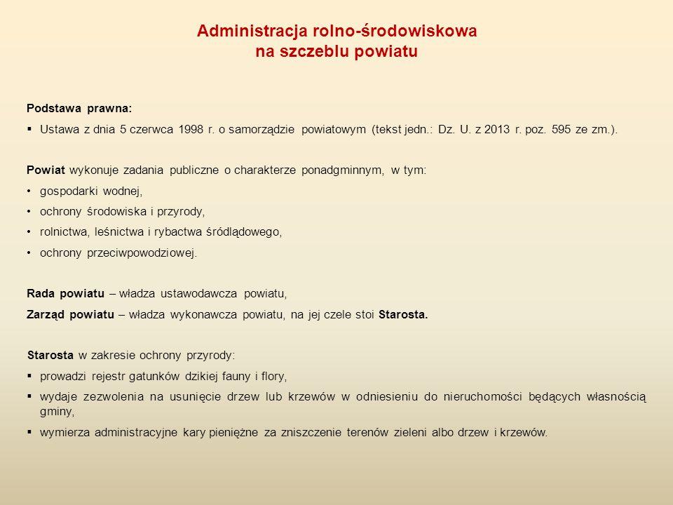 Podstawa prawna:  Ustawa z dnia 5 czerwca 1998 r. o samorządzie powiatowym (tekst jedn.: Dz. U. z 2013 r. poz. 595 ze zm.). Powiat wykonuje zadania p