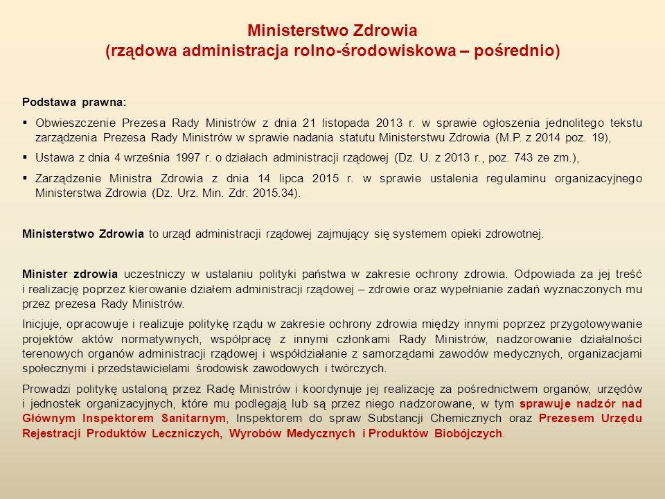 Podstawa prawna:  Obwieszczenie Prezesa Rady Ministrów z dnia 21 listopada 2013 r. w sprawie ogłoszenia jednolitego tekstu zarządzenia Prezesa Rady M
