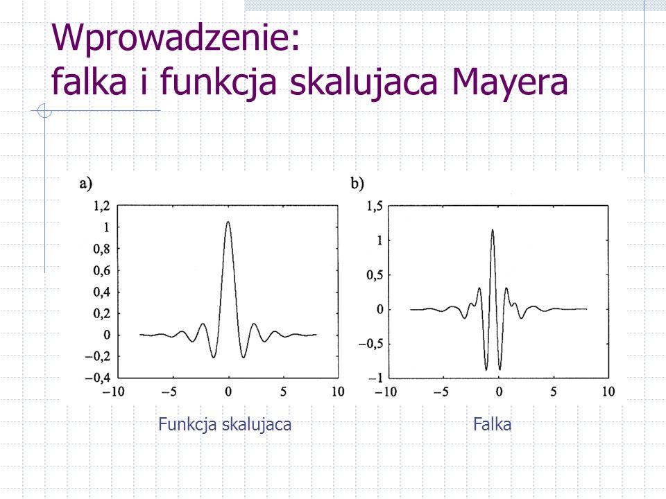 Wprowadzenie: falka i funkcja skalujaca Mayera Funkcja skalujacaFalka