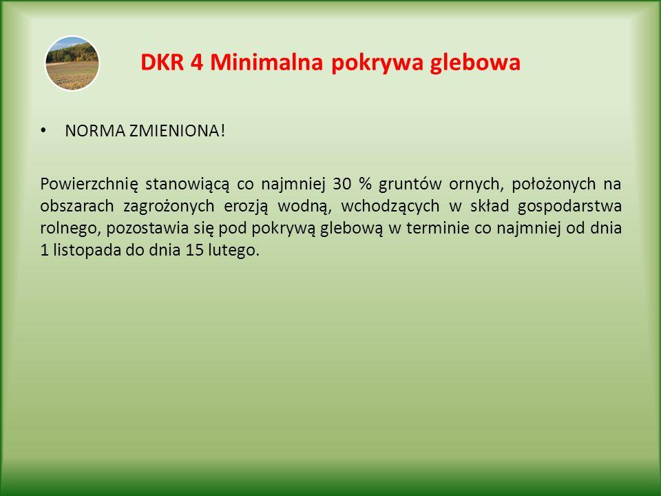 DKR 4 Minimalna pokrywa glebowa NORMA ZMIENIONA.