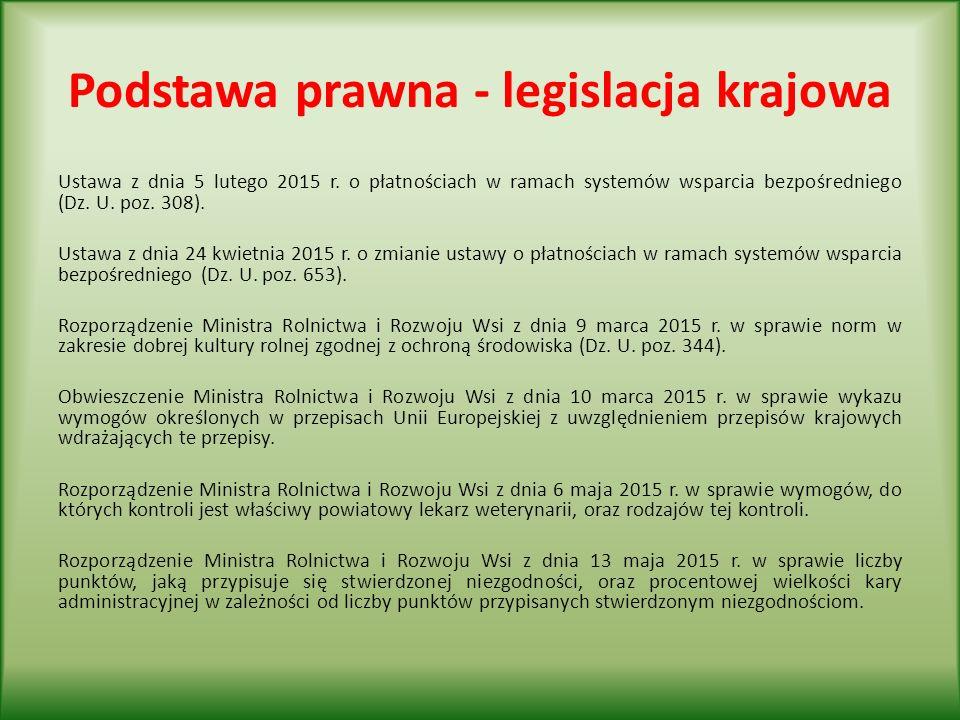 Podstawa prawna - legislacja krajowa Ustawa z dnia 5 lutego 2015 r.