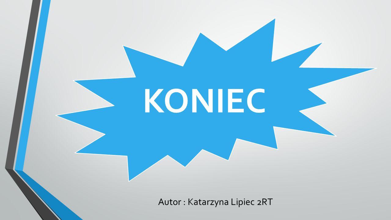 KONIEC Autor : Katarzyna Lipiec 2RT
