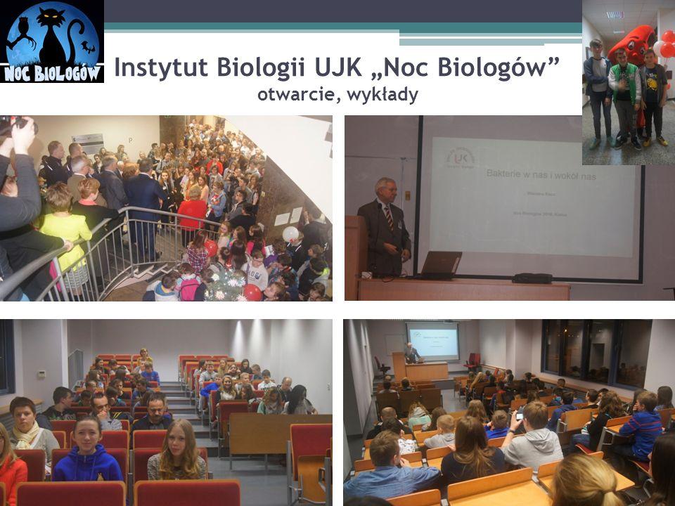 """Instytut Biologii UJK """"Noc Biologów"""" otwarcie, wykłady"""