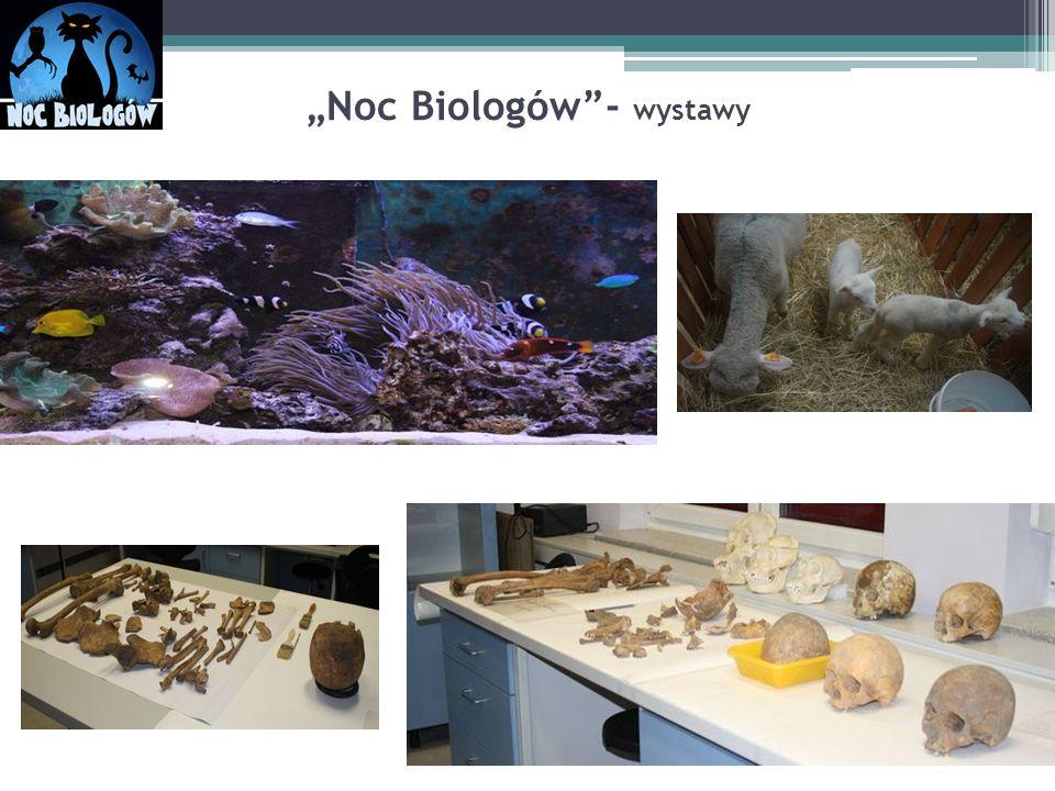 """""""Noc Biologów""""- wystawy"""