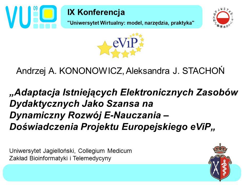 Andrzej A.KONONOWICZ, Aleksandra J.