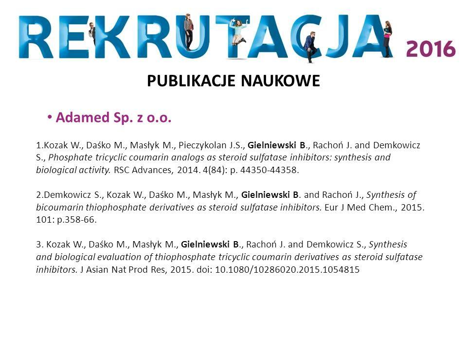 PUBLIKACJE NAUKOWE Adamed Sp. z o.o.