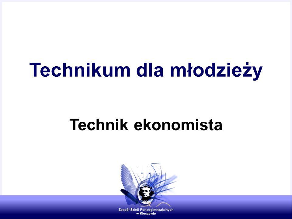 Technikum dla młodzieży Technik ekonomista