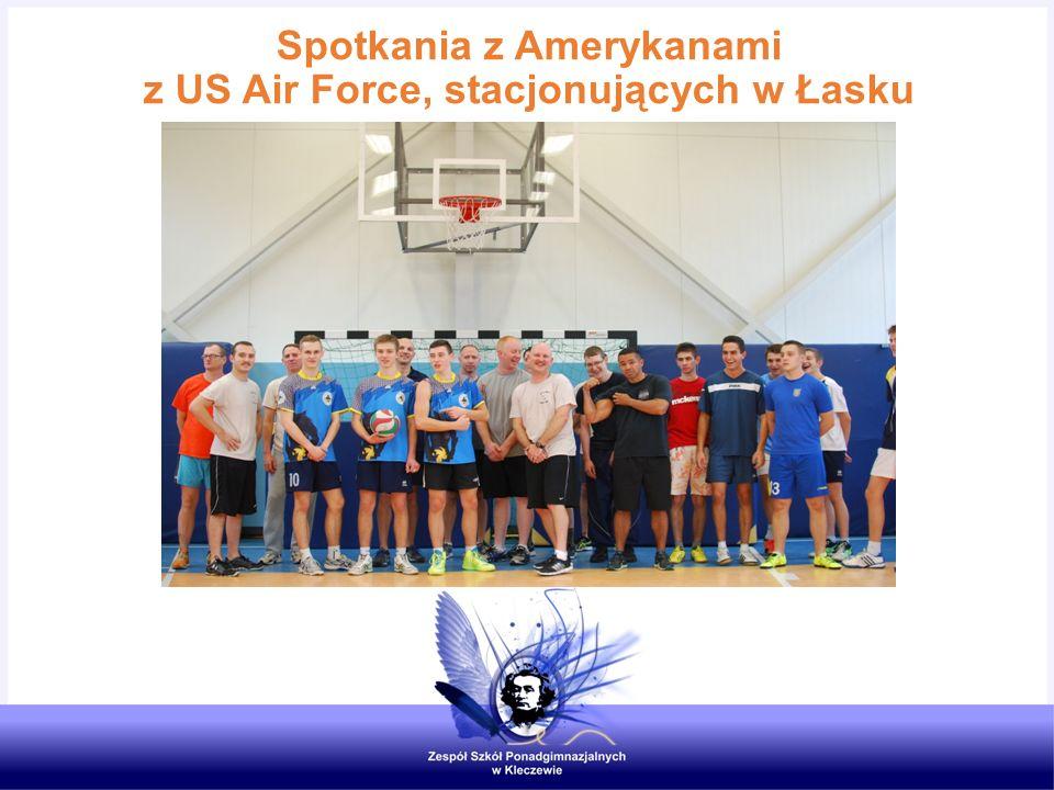 Spotkania z Amerykanami z US Air Force, stacjonujących w Łasku