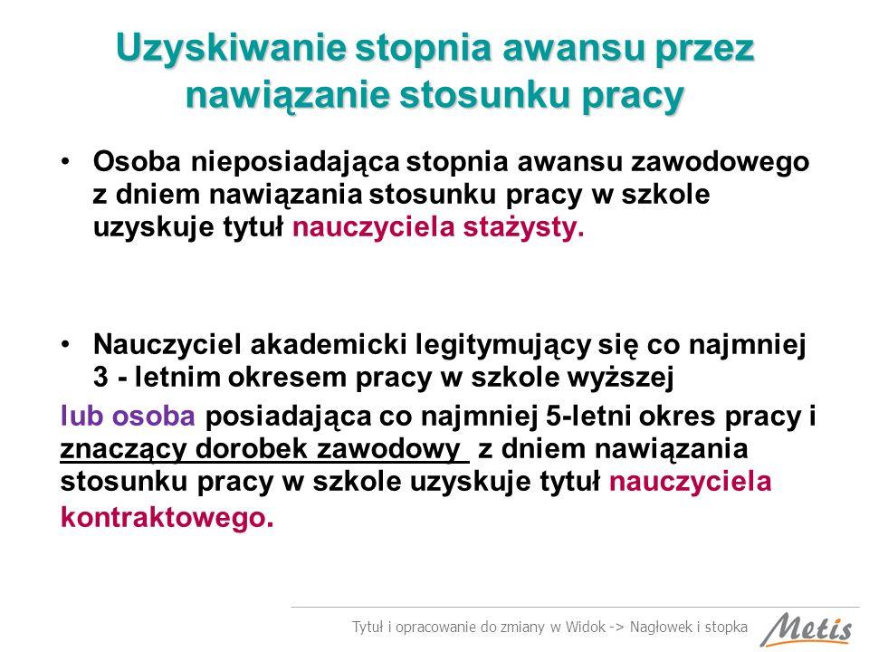 Tytuł i opracowanie do zmiany w Widok -> Nagłowek i stopka Przykład 1.