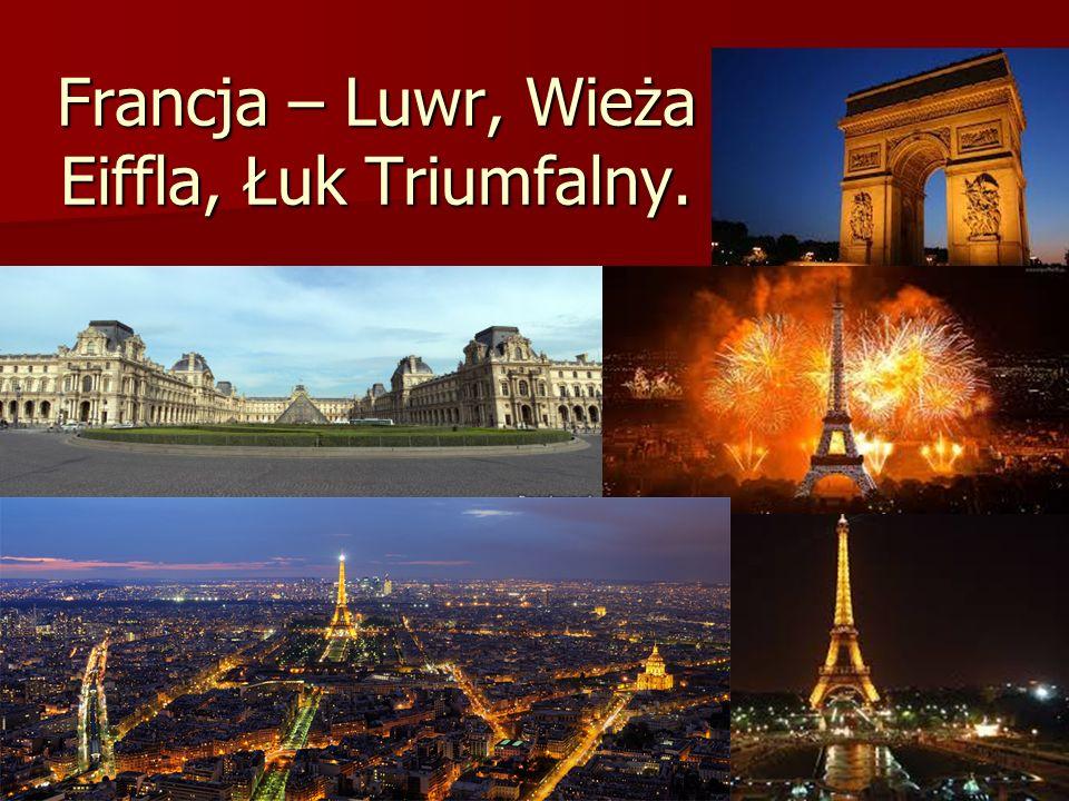 Francja – Luwr, Wieża Eiffla, Łuk Triumfalny.